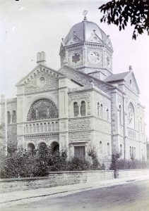 Part of a postcard Neuen Synagoge Bad Kissingen, um 1900, © Jüdisches Museum Franken